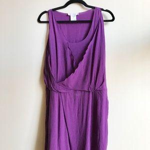 Chloe purple silk tank dress